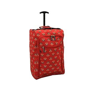 Paul Frank cabina aprobado ligero carrito vuelo con ruedas Bolsa Red: Amazon.es: Equipaje
