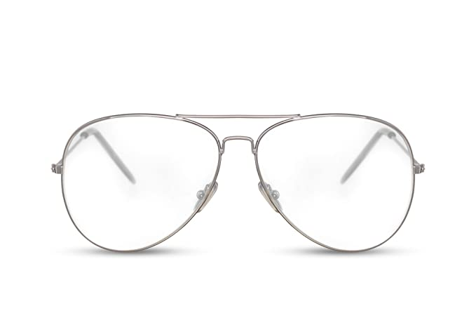 Cheapass Piloten-Sonnenbrille Silber Grün UV-400 Metall-Rahmen Flieger-Brille Damen Herren osmTSuq