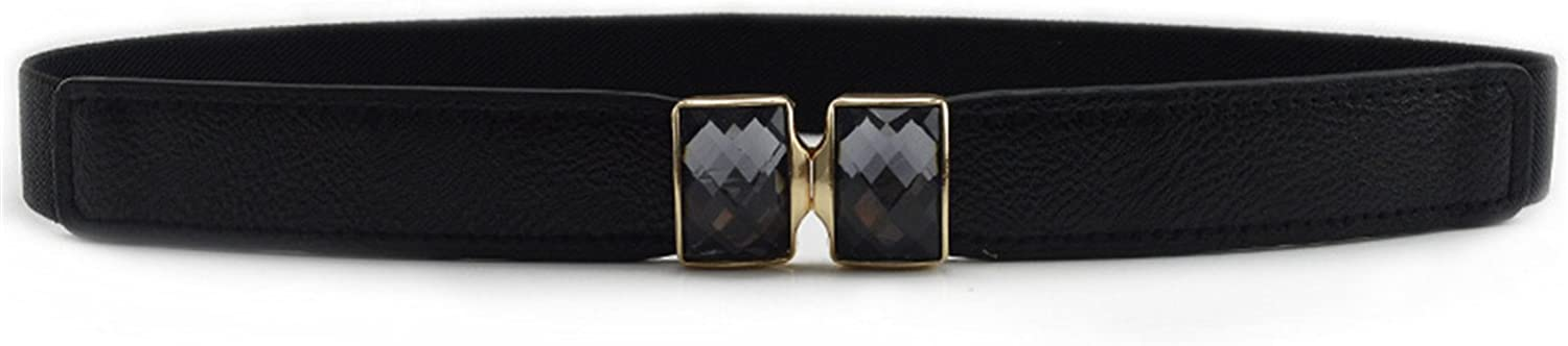 Fashion Luxury PU Leather Buckle Rhinestone Bowknot Ornaments Women Ladies Solid Color Belts FS0487