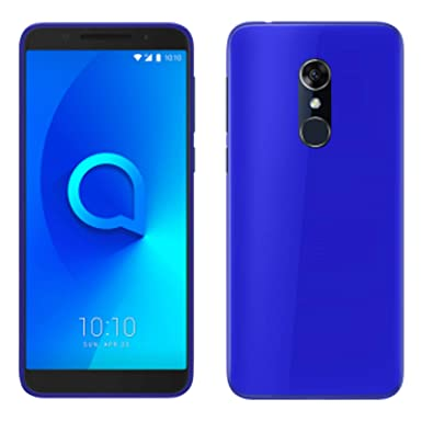online store 43235 8e8b5 TBOC Blue Ultra Thin TPU Silicone Gel Case Cover for Alcatel 3 5052D 5052Y  (5.5 Inches) Soft Jelly Rubber Skin [It is not Compatible with [Alcatel 3C]  ...