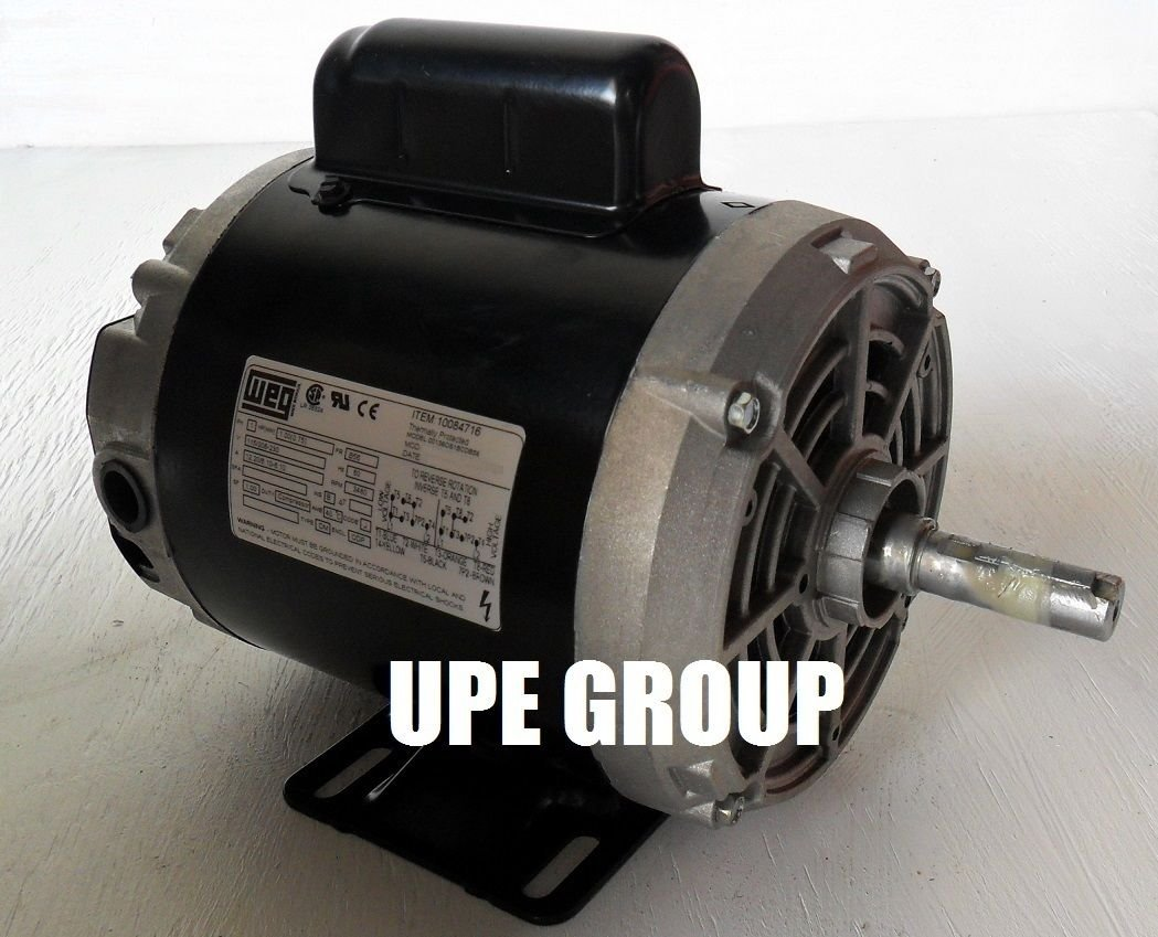 New WEG 1HP Electric Motor Fan Pump 56 frame 3480 rpm 1 phase 115/230 volt