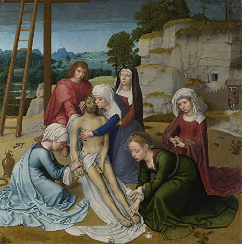 'Gerard David Lamentation ' Oil Painting, 8 X 8 Inch / 20 X 21 Cm ,printed On Polyster Canvas ,this Best Price Art Decorative Canvas Prints Is Perfectly Suitalbe For Garage Decoration And Home Artwork And Gifts - Costume History Lesson Plans