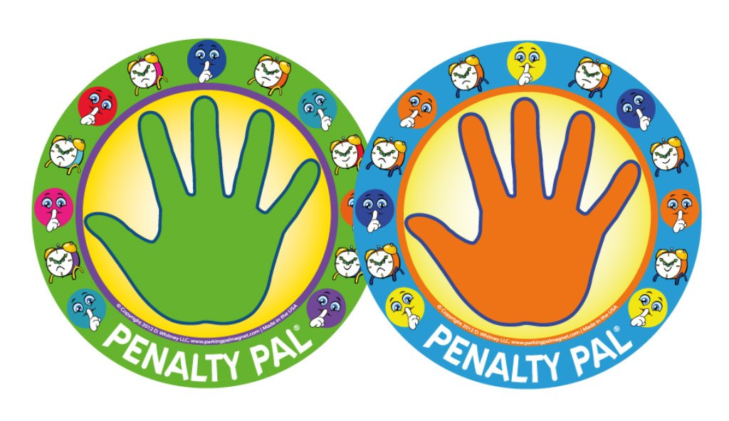 Penalty Pal- Time Out Spot for Kids, Removable Wall Decal (Green/orange) Parking Pal
