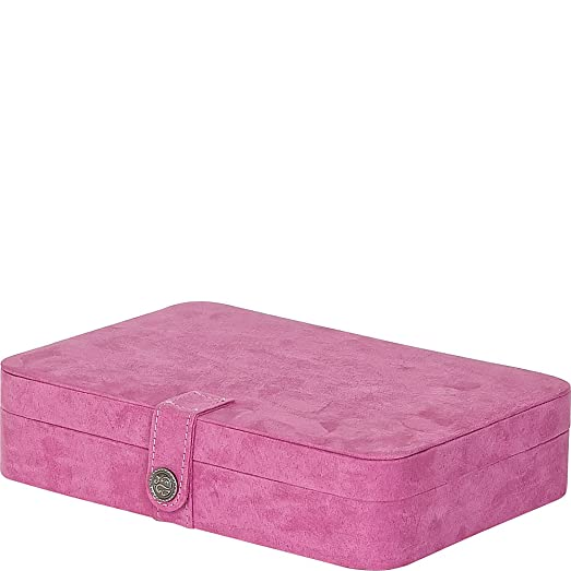 Amazoncom Maria Plush Fabric Jewelry Box with 24Section in Pink