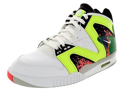 Amazon.com | Nike Men's Air Tech Challenge Hybird White/White/Volt/Hot Lava  Tennis Shoe 8 Men US | Basketball