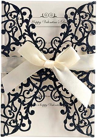 Chiic 20 Pcs Carte Dinvitation Baby Shower Carte Dinvitation Mariage,Faire-Part De Mariage pour F/êtes De Mariage Anniversaire