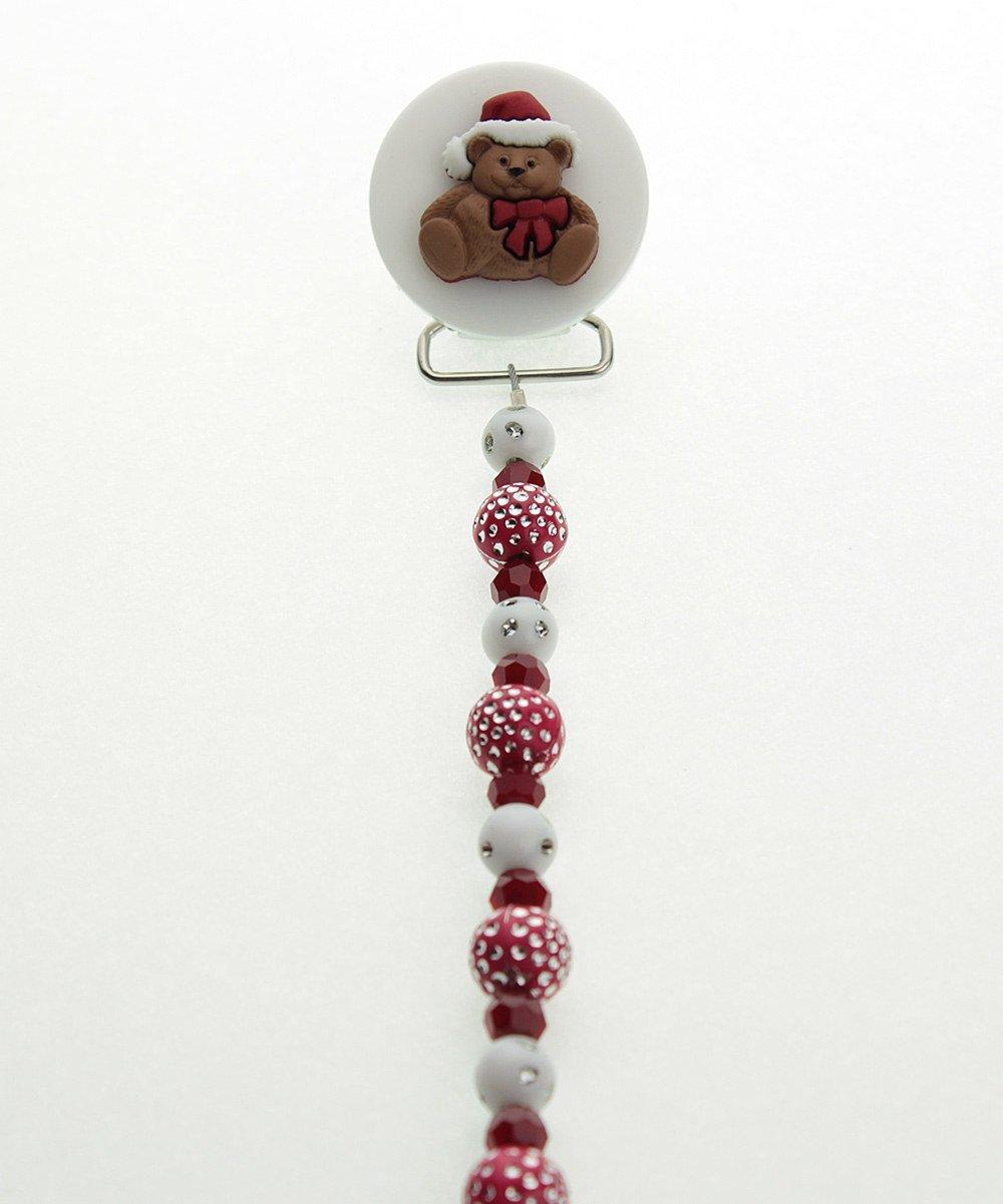 Cristal sueño elegante Festive rojo y blanco perlas de ...
