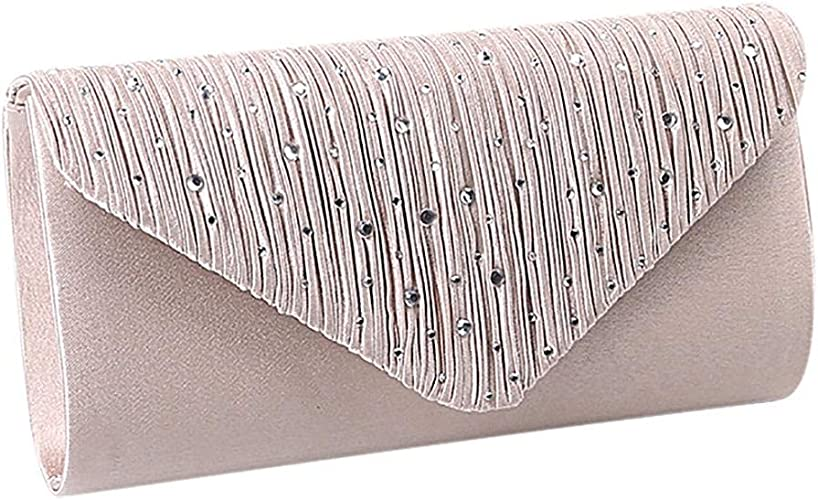 Ladies Party Diamante Envelope Clutch Bag Evening Bag Bridal Wedding Bag Handbag