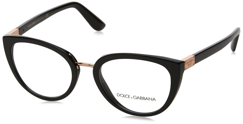 Amazon.com: Eyeglasses Dolce & Gabbana DG 3262 501 BLACK: Clothing