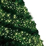 Cluster Lights 480 Warm White LED Fairy Lights ( 6m / 20ft Lit Length ) Multi-action Mains Operated Green Cable - Indoor & O