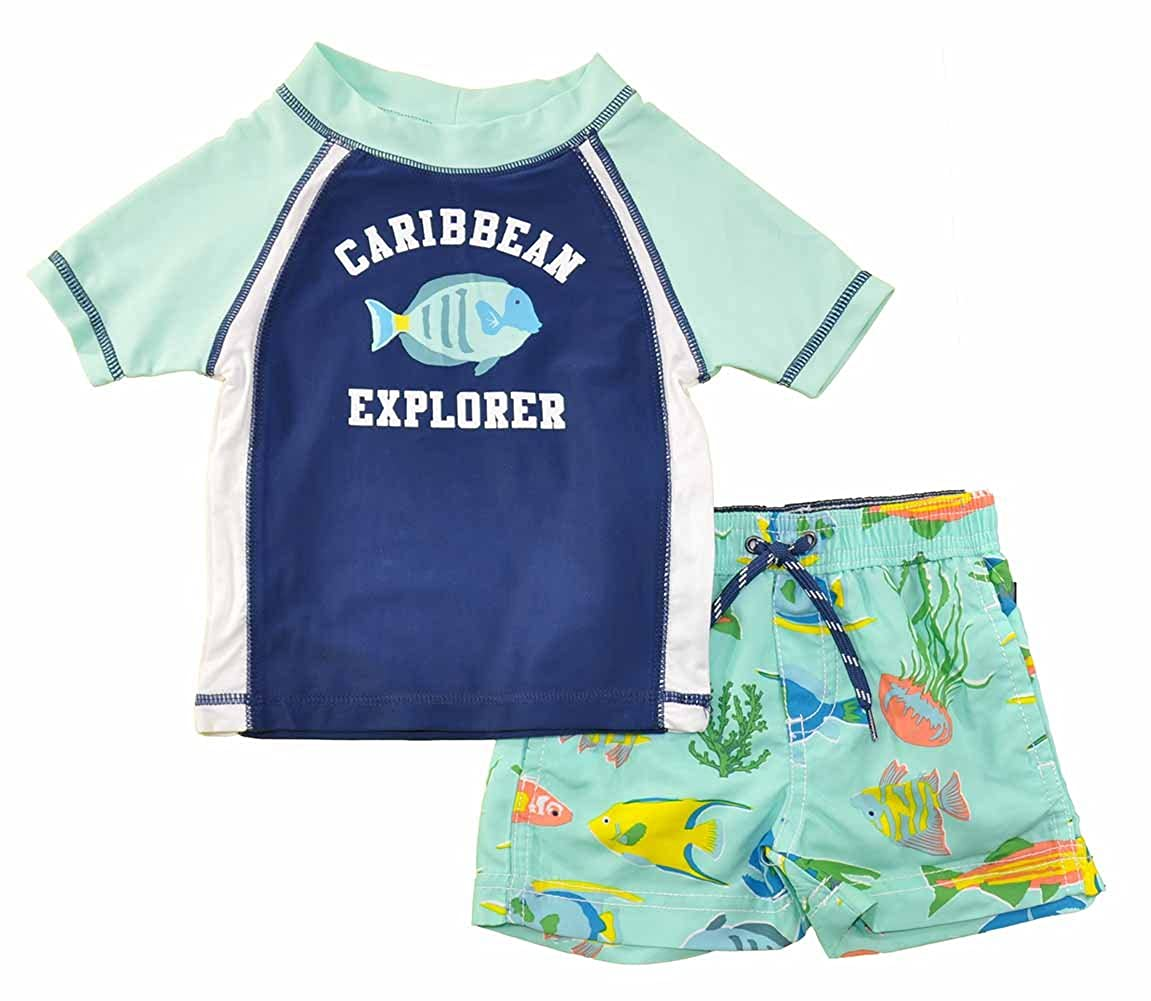 Carter's Baby Boys' Infant Caribbean Explorer Rash Guard Set SC176AR