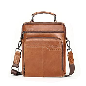 d74e9ca9f0d Amazon.com   Meigardass Men s Genuine Leather Messenger Shoulder Bag  Handbag Laptop iPad Briefcase (Brown-1050)   Messenger Bags