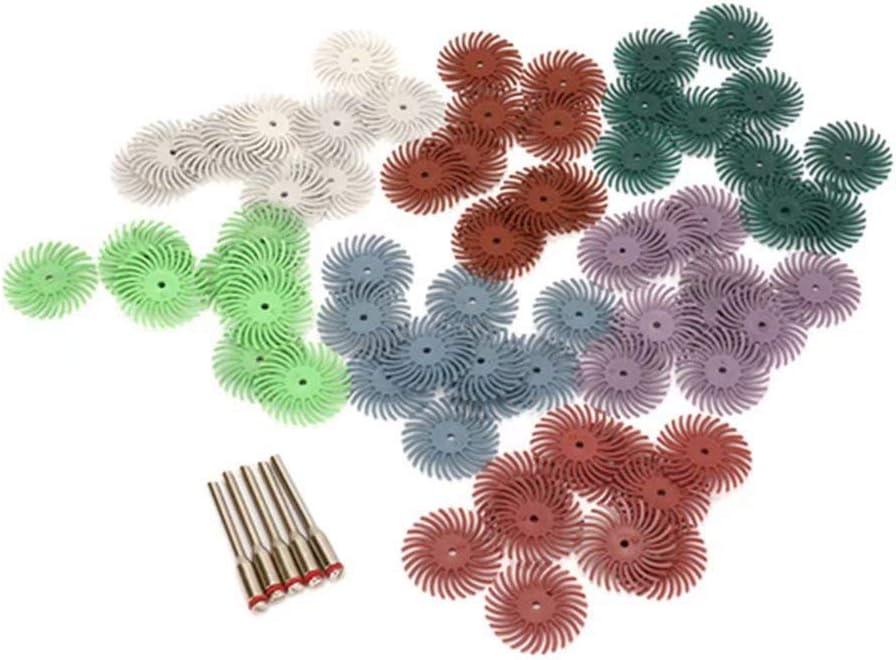 10Pcs 400 Grit Radial Bristle Disc Brush with 1//8 Shank Abrasive Bristle Disc Set for Wood Jewelry Mold Polishing