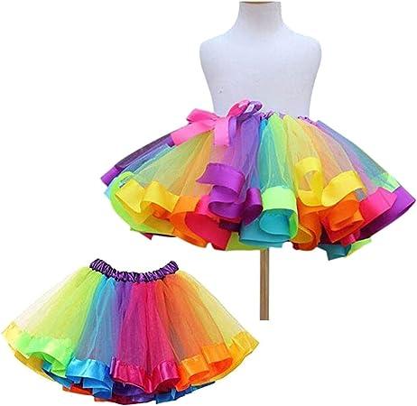 Haifly Falda de tutú Capas de Tul Baile de Ballet para niñas ...