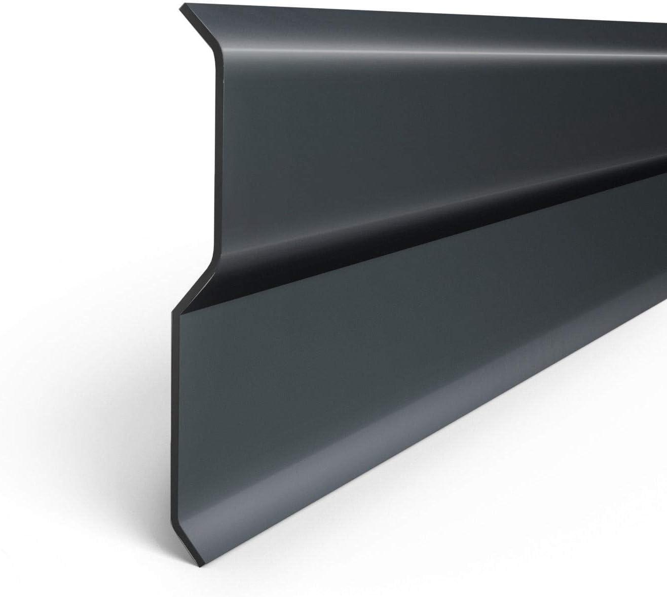 2 m/ètres couleur graphite Bande de finition pour solin de chemin/ée en aluminium