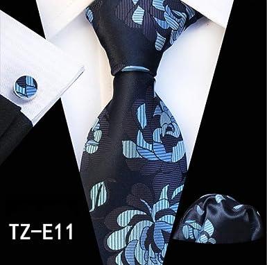 Ancho de corbata de seda 8 cm para hombre Conjuntos de corbata a ...