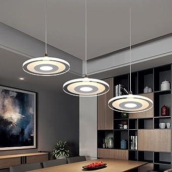 3-Head 36W LED Ultra delgado Colgante de luz Candelabros Moderno ...