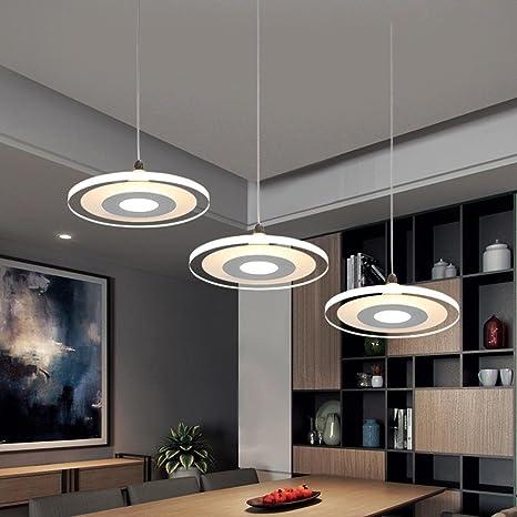 3 Head 36w Led Ultra Thin Pendant Light Chandeliers Modern Elegant Minimalism Kitchen Island Dining Room Bar Study Living Room Hanging Lamp Round