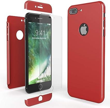 NALIA Custodia Integrale compatibile con iPhone 8 Plus, Cover Protettiva Fronte e Retro & Vetro Temperato, Case Rigida Protezione Telefono Cellulare ...