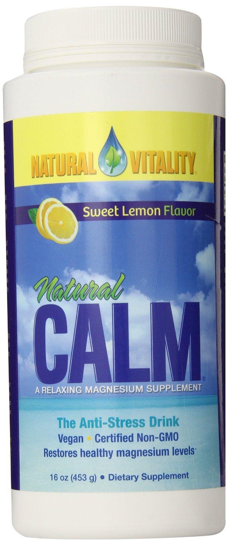 Natural Vitality Natural Calm Lemon - 16 oz (Pack of 4)