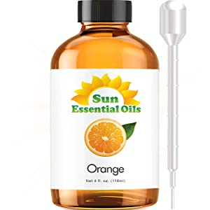 Sweet Orange Essential Oil (Huge 4oz Bottle) Bulk Sweet Orange Oil - 4 Ounce