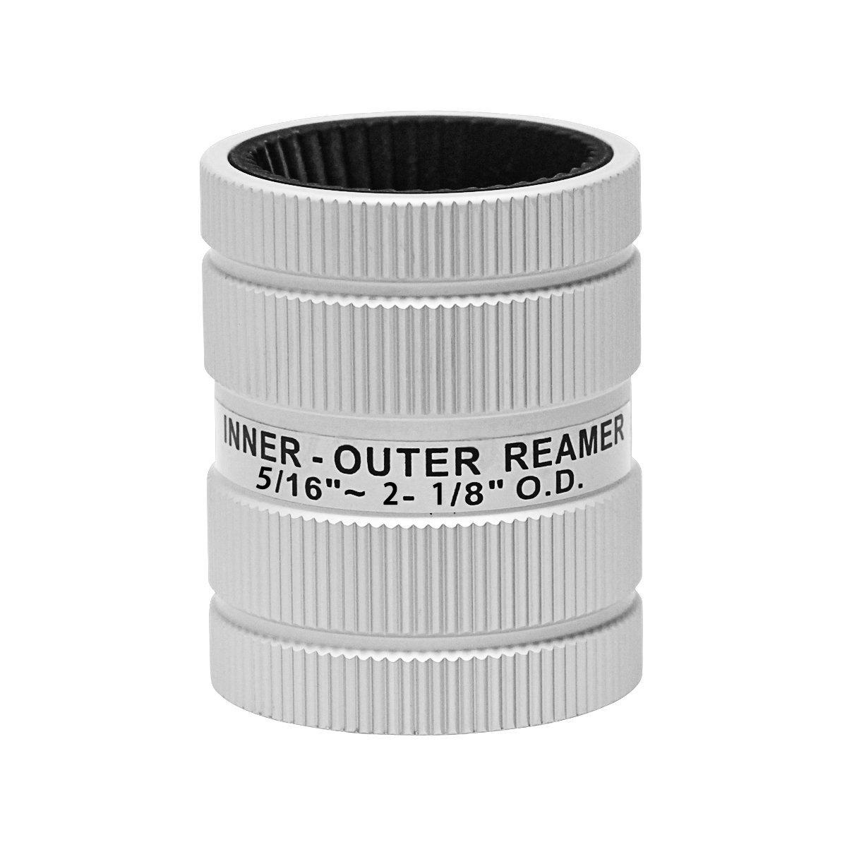 Wisamic Edelstahl-Reamer, 5/16 Zoll, 2– 1/8 Zoll innen/auß en Reamer, Kupfer-Reamer, deburring, 6– 54 mm