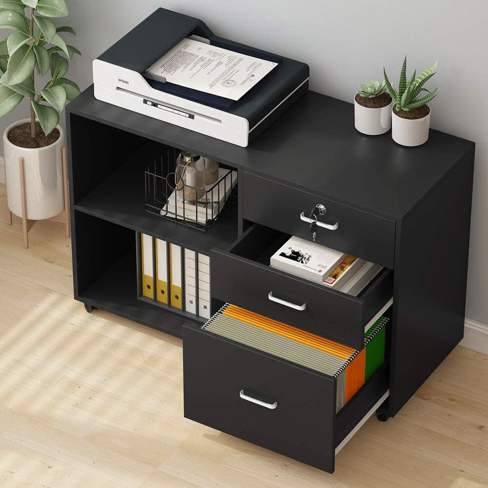 Tribesigns 3 Drawer Wood File Cabinets