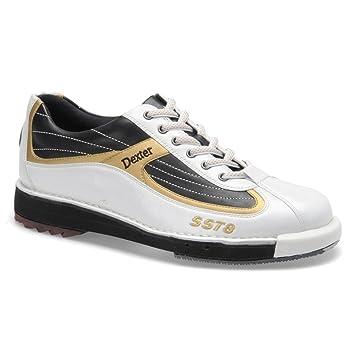 e413902b06 Homme Dexter SST 8 Chaussures de bowling, Homme, Blanc/noir/doré ...