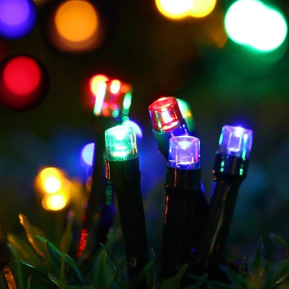 LED Solar Lichterkette,200er 22m 8 Modes weihnachten deko,Garten Außen Licht Dekorative Beleuchtung für Terrasse, Haus, Outdoor, Party, Hochzeit, Weihnachten (Mehrfarbig)