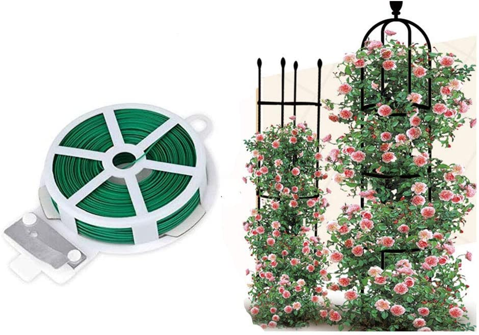 VIMOA Garden Twine 164 Feet Garden Twist Ties Plant Trellis Rose Trellis Garden Trellis 2 Pack for Clinging Roses