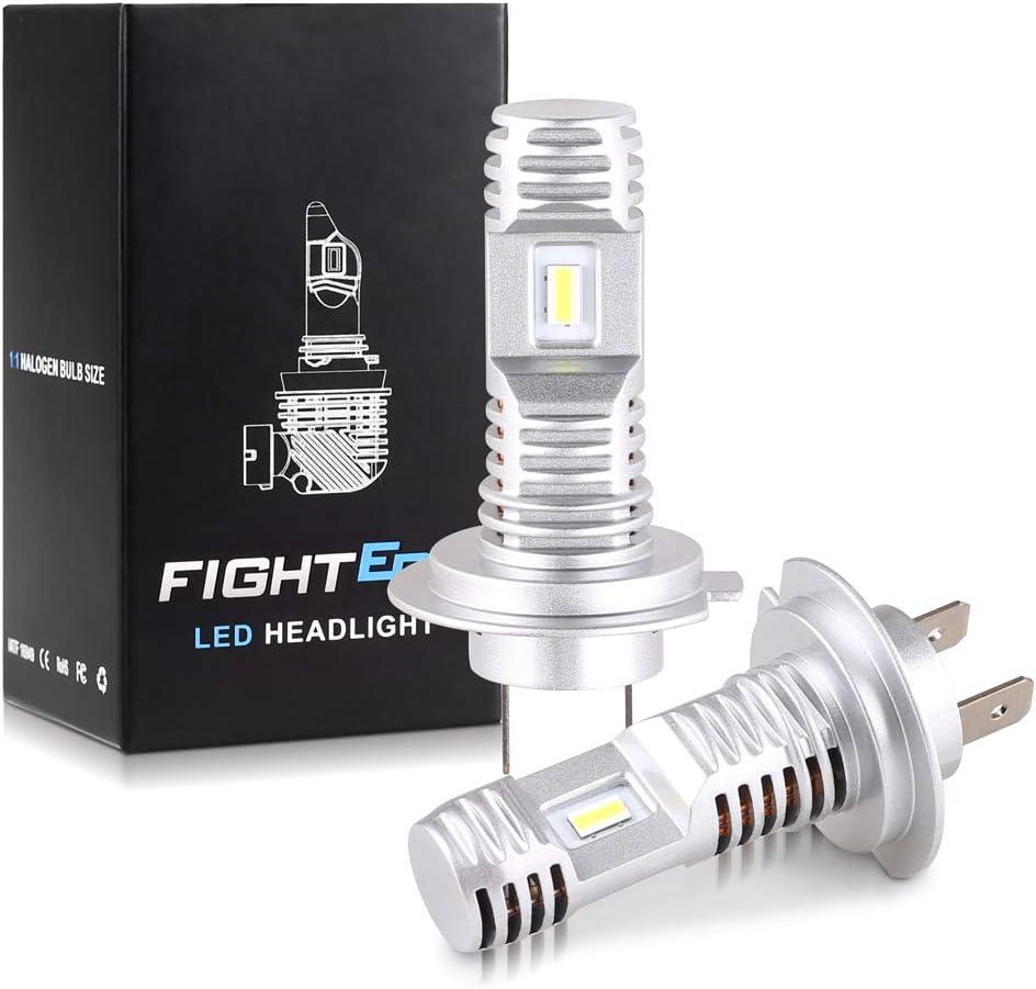 Pack of 2 MOOHOP H7 LED Headlight Bulbs Conversion Kit Fog Light Bulb Halogen Headlight Replacement 6500K Hi//Lo Beam Conversion Kit Car Bulbs