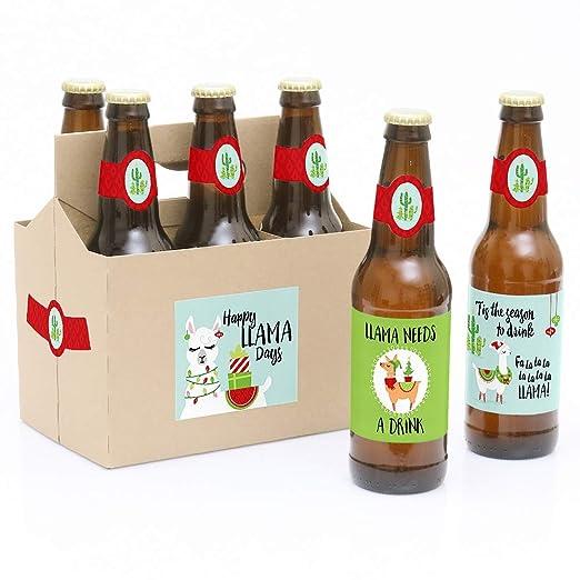 Fa La Llama - 6 pegatinas de etiquetas para botellas de cerveza y ...