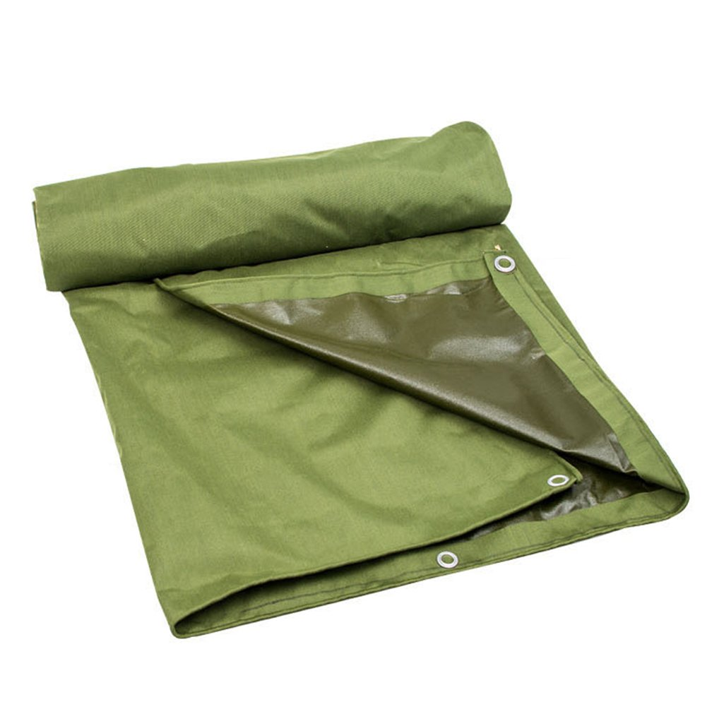ZEMIN オーニング サンシェード ターポリン 防水 日焼け止め テント シート ルーフ 防風 カバー 耐摩耗性 ポリエステル、 緑、 200G/M²、 利用可能な16サイズ (色 : 緑, サイズ さいず : 6X14M) B07D21X3NC 6X14M|緑 緑 6X14M