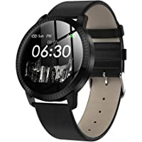 elecfan CF18 Smart Watch HR,1.22 Inch Waterproof Tempered Glass Screen Smartwatch Fitness Tracker Sport Watch for iPhone & Android