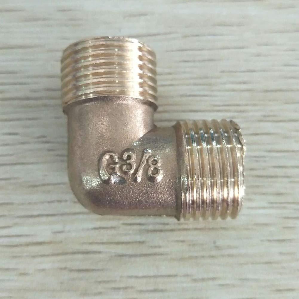 Rohrfittings Au/ßengewinde Wasser L Typ Gie/ßen 1//2 Zoll Messing BSP-Winkelst/ü