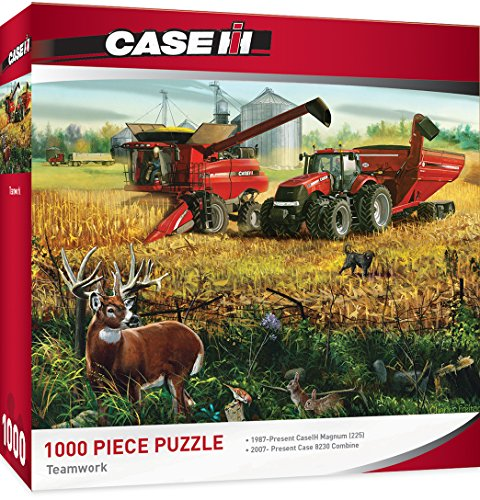 MasterPieces Case/IH Teamwork - Models 315 & 8230 Tractors 1000 Piece Jigsaw Puzzle by Charles Freitag from MasterPieces