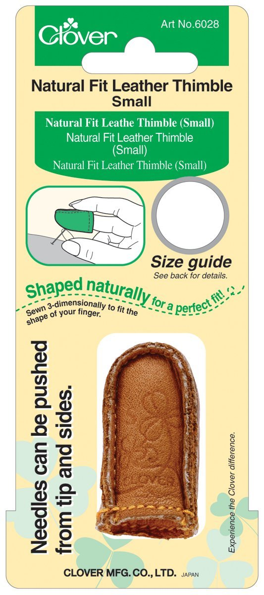 Clover Natural Fit Leather Thimble, Small product image