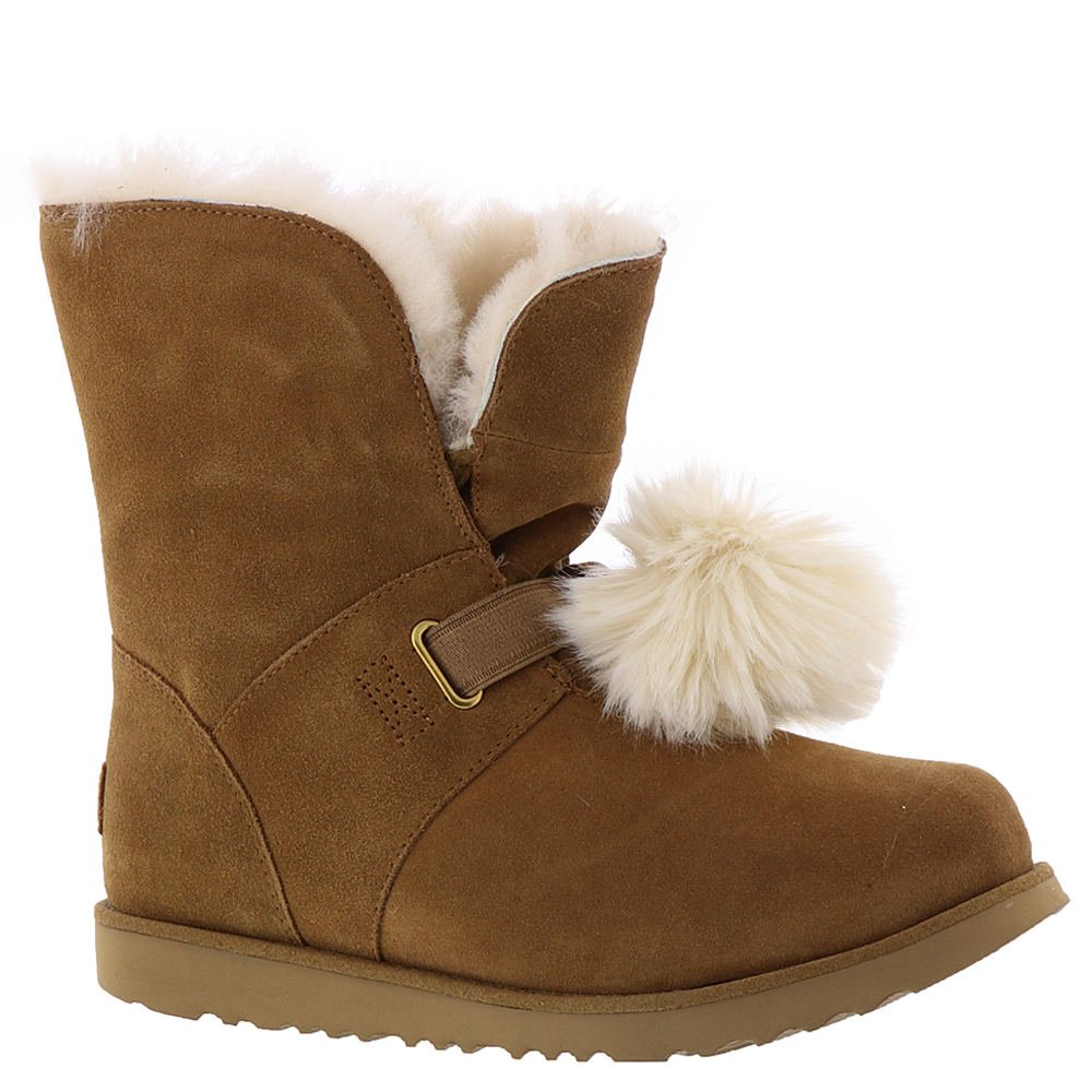 UGG Girls Isley WP Boot, Chestnut, 3 M US Little Kid