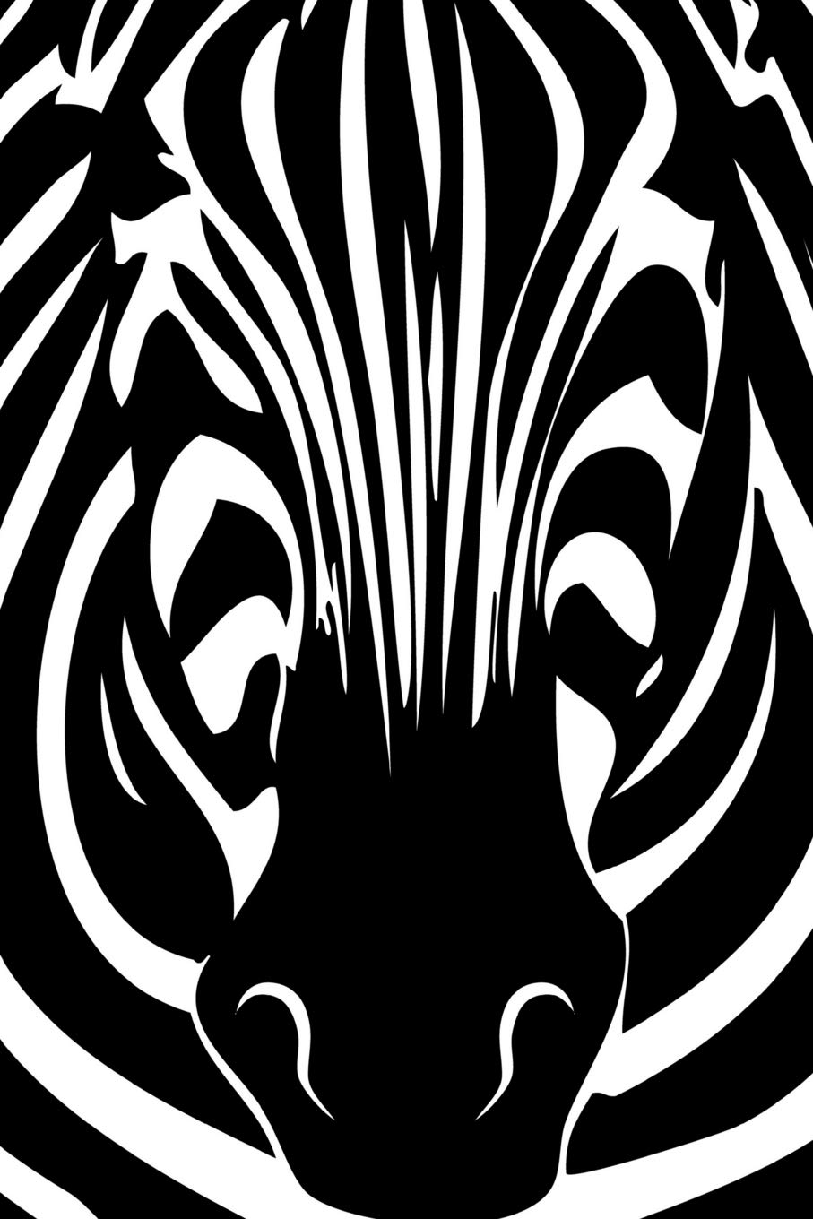 Zebra animal optical illusion pattern journal blank lined composition notebook 75 sheets 150 pages 6 x 9 inch paperback august 4 2018