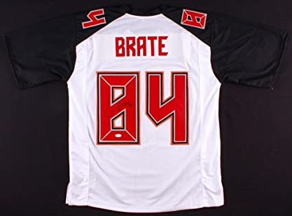 262486248 Cameron Brate Autographed Signed White Buccaneers Jersey - JSA Certified