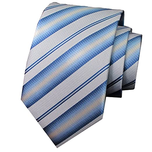 Easy Go Shopping Corbata de Rayas de Color Azul Claro y Blanco ...