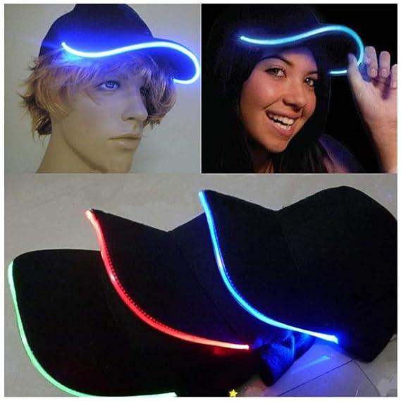 Gorro de Beísbol ajustable con luces LED parpadeantes - Gorro de beísbol con luces led.