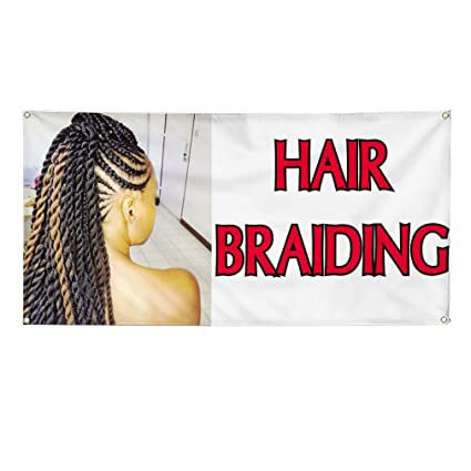 Amazon com : Vinyl Banner Sign Hair Braiding #1 Business
