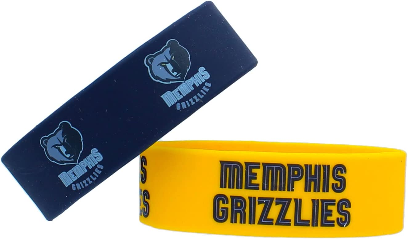 2-Pack NBA Memphis Grizzlies Wide Bracelet