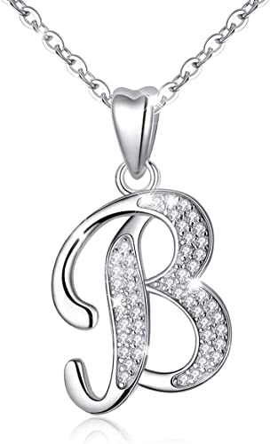 Fashion alphabets 26 English letters women necklaces with chains 18 inches