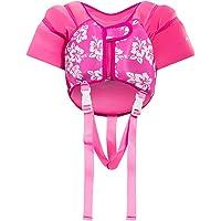 Hony Kinder Schwimmweste - Kleinkind Bademode Schwimmtraining Aufblasbar Jacke zum 1-5 Jahre alt Jungen Mädchen Schwimmen Lernen Unisex Blau Rosa