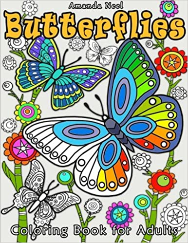 Amazon.com: Butterflies Coloring Book for Adults (9781530174171 ...