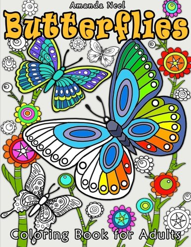 Butterflies Coloring Book for Adults