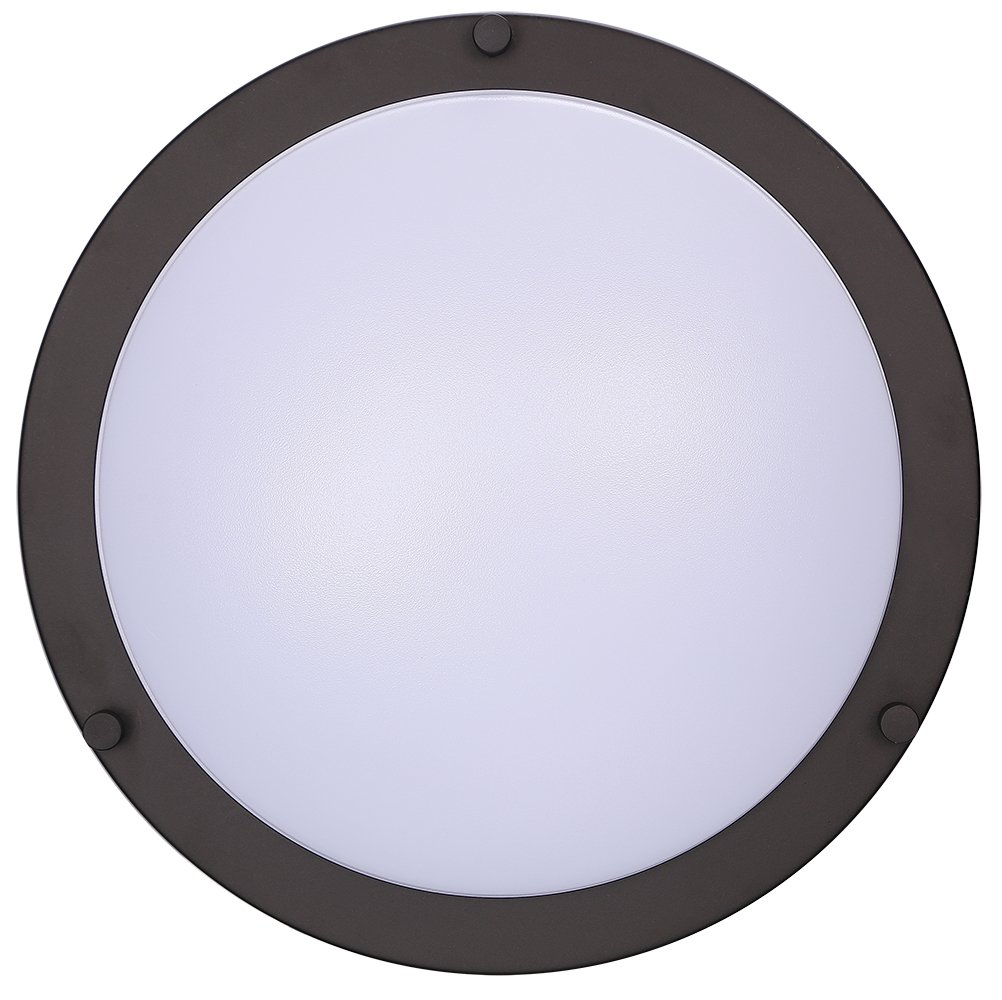 Cloudy Bay LED Flush Mount Ceiling Light,10 inch,17W(120W Equivalent) Dimmable 1150lm,3000K Warm White,Oil Rubbed Bronze Round Lighting Fixture for Kitchen,Hallway,Bathroom,Stairwell by CLOUDY BAY (Image #3)