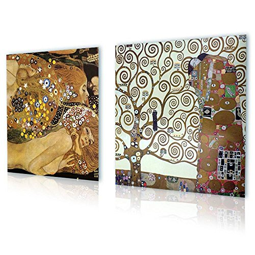 (Alonline Art - Water Serpents Tree of Life Gustav Klimt Print On Canvas (Synthetic, UNFRAMED Unmounted) 20